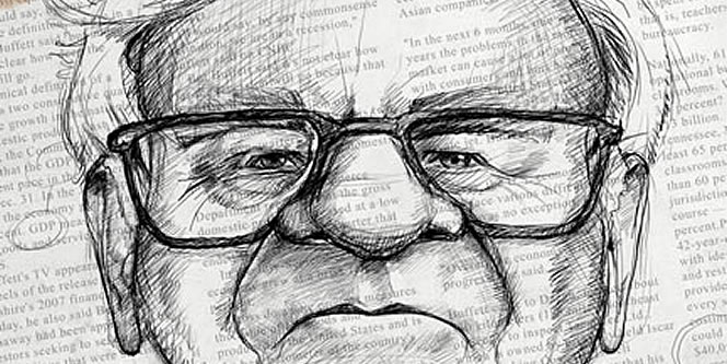 Warren Buffet Illustration for UtahCEO magazine