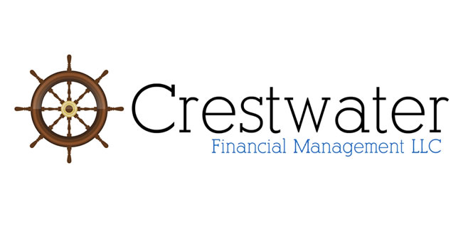 Crestwater Financial logo design