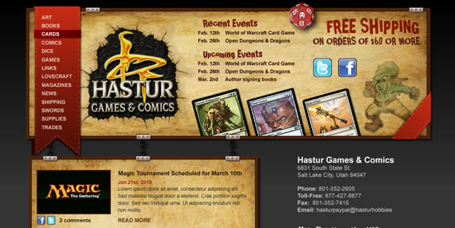 Hastur Games & Comics